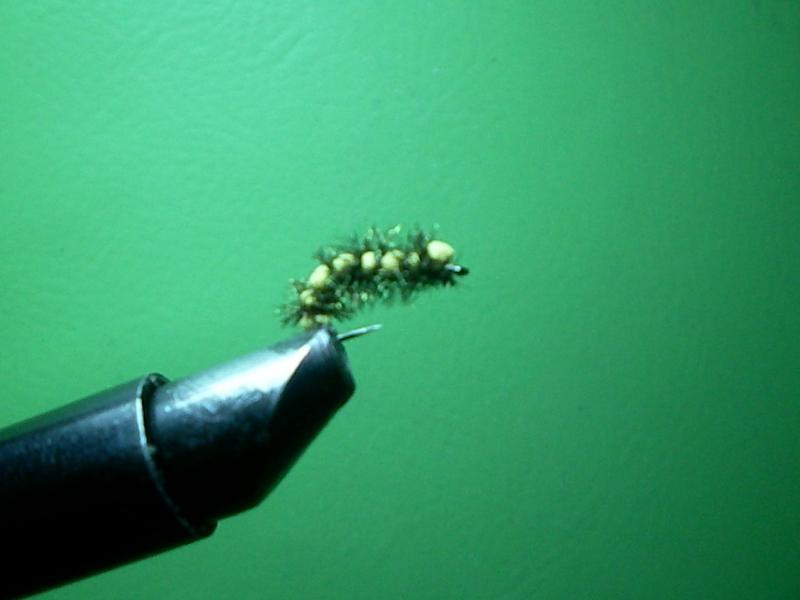 как связать гусеницу для нахлыста